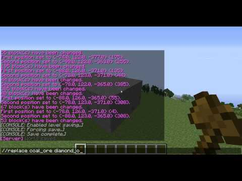 World Edit Tutorial- Episode 2: Replacing blocks and setting multiple blocks!