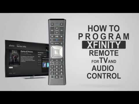 How to program XFINITY Remote for TV and Audio Control