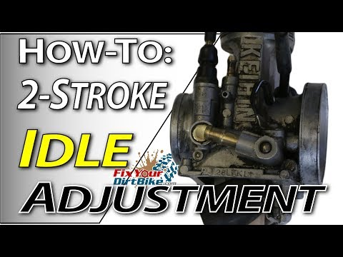 2-Stroke Carb Tuning - Idle Adjustment | Fix Your Dirt Bike.com
