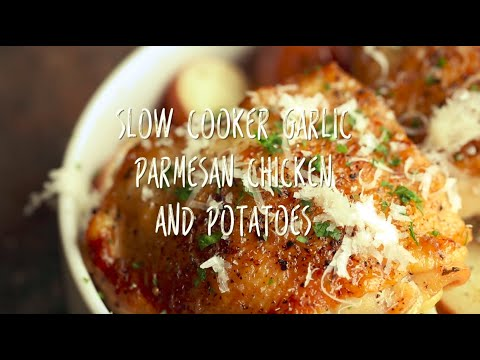 Slow Cooker Garlic Parmesn Chicken and Potatoes