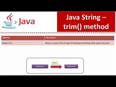 Java Tutorial : Java String (trim method)
