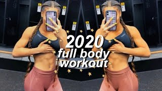 Get Fit For 2020! My Full Body Workout Routine | Azlia Williams