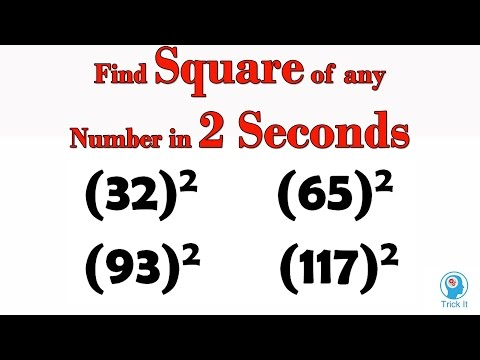 Shortcut to  Find Square of any Number