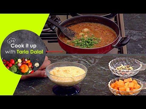 Cook It Up With Tarla Dalal -Ep 22 - Bread Koftas in Pumpkin Curry, Charotar ke Chile, Jhatpat Halwa