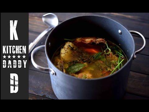 Roasted Chicken Stock   Kitchen Daddy