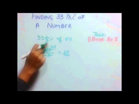 Trick 41 Finding 33 1/3% of a number