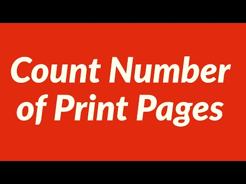 Count Number of Print Pages on Worksheet with VBA