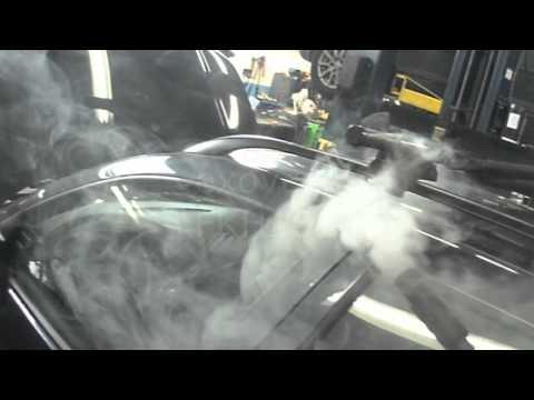 VW A4: Smoke Checking Door Seals (water on carpet)