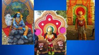 Madikeri kanchi kamakshi tempal procession 2019...Kerala tradition dance... Singari mela..