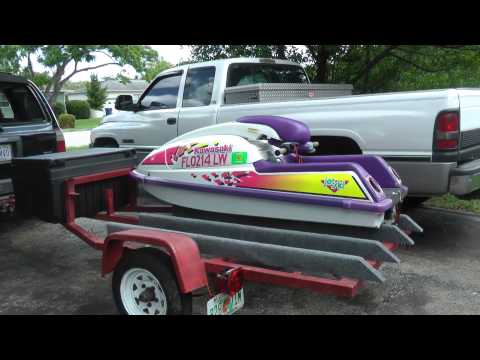Fixing my standup jetski trailer