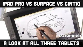 iPad Pro vs. Surface Pro vs. Wacom Cintiq Companion - a designer