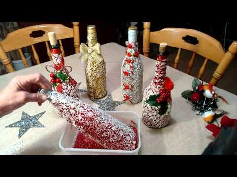 Exquisitely decorated wine bottle