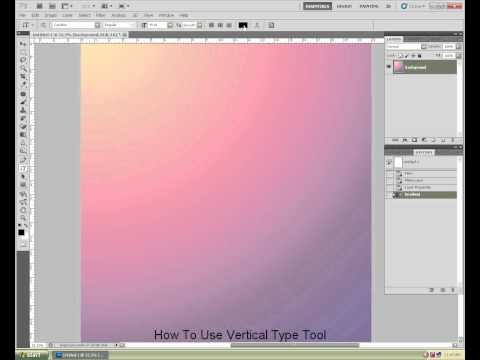 Photoshop : Vertical Type Tool.wmv