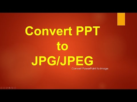 Convert PowerPoint or PPT to Image