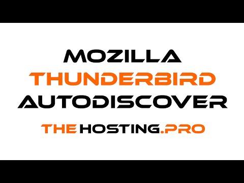 How to setup TheHosting.Pro e-mail account with Mozilla Thunderbird using Autodiscover option