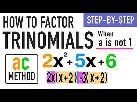 ☆ How to Factor a Trinomial when A is NOT 1 | Common Core Algebra
