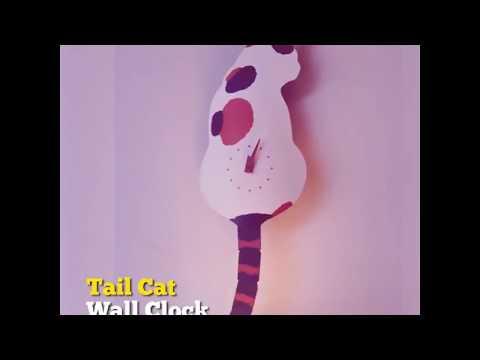Tail Cat Wall Clock