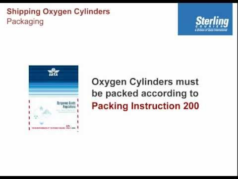 Packaging Oxygen Cylinders For Air Transport