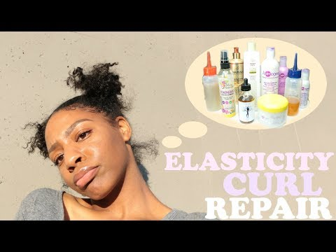 ELASTICITY/PROTEIN CURL REPAIR for Damaged Natural Hair | Products + Treatments
