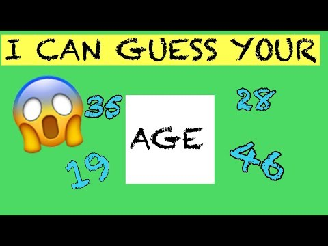 I CAN GUESS YOUR AGE (2018)   MATH TRICK