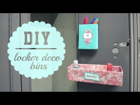 DIY Locker Decor Bins { Back to School }