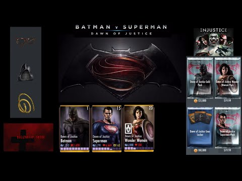 Injustice Gods Among US iOS - Dawn of Justice Superman, Wonder Woman, Batman