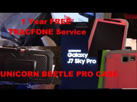 SAMSUNG GALAXY J7 SKY PRO Tracfone & CASE