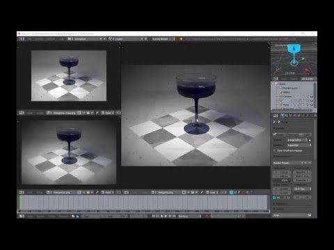 Blender tutorial on Margarita Glass and color gradient fade