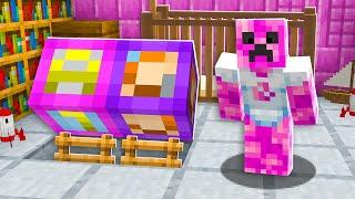 I Found Baby Preston's Girlfriend's SECRET House - Minecraft