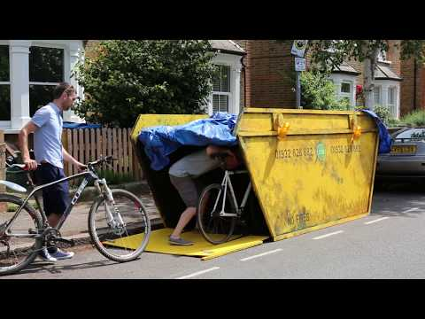 The Biskiple: Urban cloaking device for bicycles