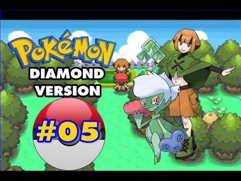Pokemon Diamond - Part 5 - Eterna City Gym Leader Gardenia