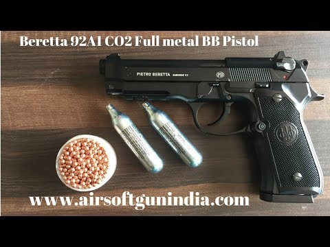 Beretta 92A1 CO2 Full metal BB Pistol in india | AIRSOFT GUN INDIA