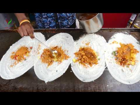 HOW TO MAKING MASALA DOSA   ROAD SIDE BREAKFAST MASALE DOSE   INDIAN STREET FOOD