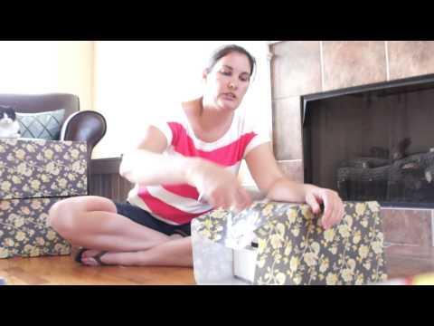 Diaper Box to Decorative Storage Bin