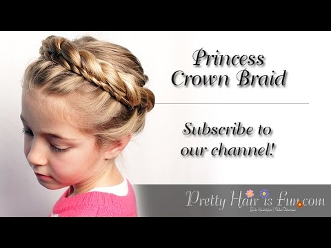 Princess Crown Braid Tutorial | Braid Hairstyles| Pretty Hair is Fun