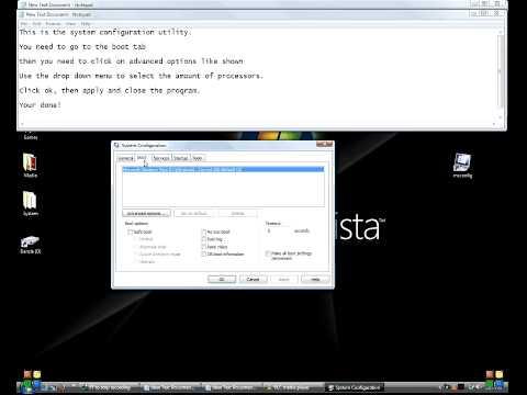 Change number of processors used on boot (Windows tweak)