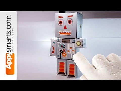 Make a Paper Robot with the Robot Box DIY toy set - simple tutorial for kids