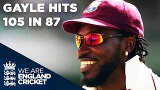 Gayle Hits Amazing 105 In 87 Balls | England v West Indies - Oval 2004
