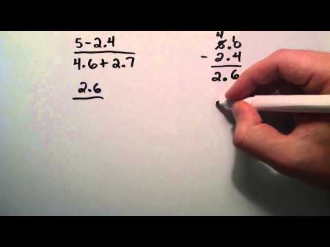 Paul Answers a Question From a Viewer - How to Solve a Fractions Involving Decimals