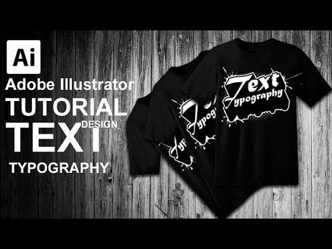Creating Text Splash Text Effect Typography   Adobe Illustrator #FreeDownload