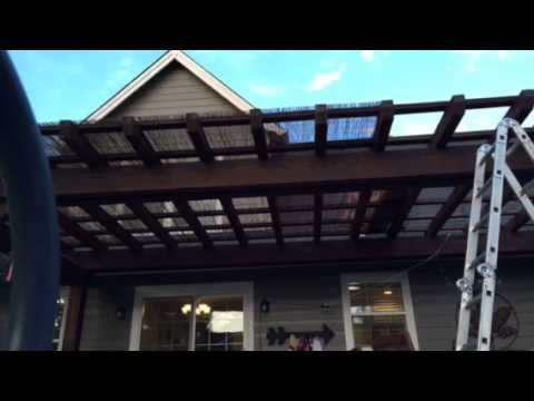 Time-Lapse Bamboo Pergola Covering