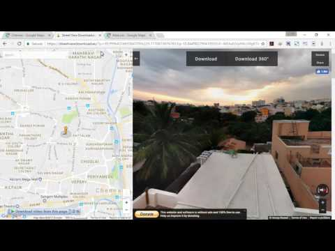 how to download hdri 360 photo from google map