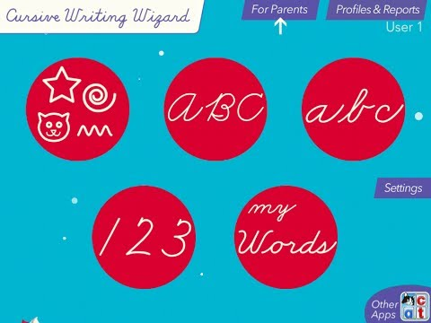 Cursive Writing Wizard - Trace Letters and Words
