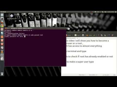 How to become a superuser in Ubuntu