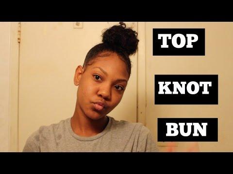 EASY Top Knot Bun Tutorial: Short To Medium Length Hair