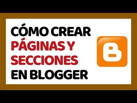 Cómo Crear Páginas en Blogger 2018 (Crear Categorías) | Cómo Usar Blogger 2018