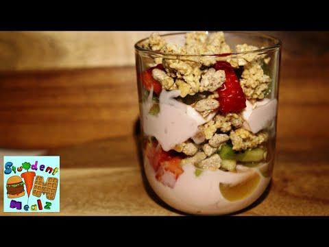 EASY GRANOLA FRUIT PARFAIT RECIPE