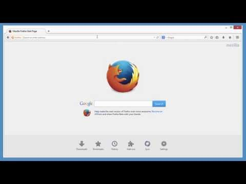 Firefox - How to set the home page
