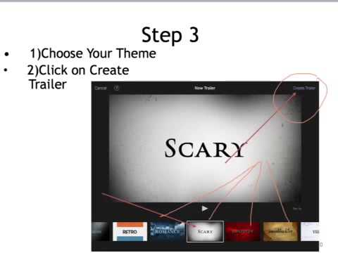 How to create an iMovie Trailer