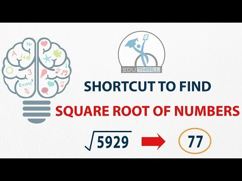Shortcut to find Square Root of Numbers